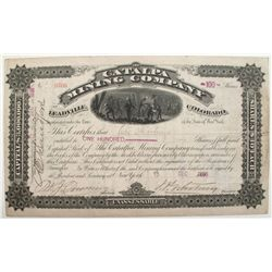 Catalpa Mining Company Stock Certificate