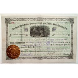 Central Colorado Prospecting and Mine Development Co. Stock Certificate