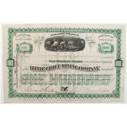 Little Chief Mining Company Stock Certificate