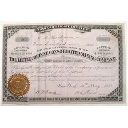 Little Corinne Consolidated Mining Company Stock Certificate