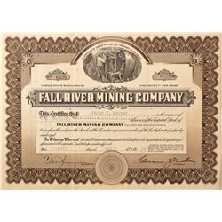 Fall River Mining Company Stock Certificate