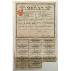Ouray Gold Mining Company, Ltd, Stock Certificate 1889