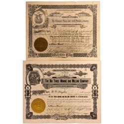 Pueblo County Stock Certificate Group
