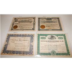 Boston-Backed Western Mining Company Stock Certificate