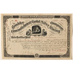 Boulder Consolidated Gold and Silver Mining of Colorado Stock Certificate
