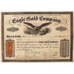 Eagle Gold Company Stock Certificate