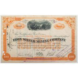 Iron Silver Mining Company Stock Certificate