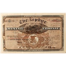 The Zephyr Mining Company Stock Certificate