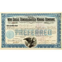 War Eagle Consolidated Mining Company Stock