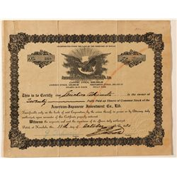 American-Japanese Investment Co., LTD. Stock Certificate