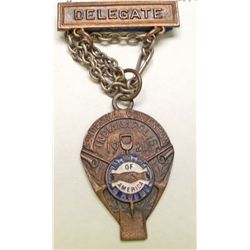 United Mine Workers of America delegate badge