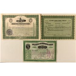 Michigan Stock Certificates Trio