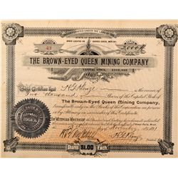 Brown-Eyed Queen Mining Company Stock Certificate