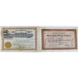 Silver Dyke Mining Co. Stock Certificates