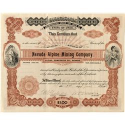 Nevada Alpine Mining Co. Stock Certificate