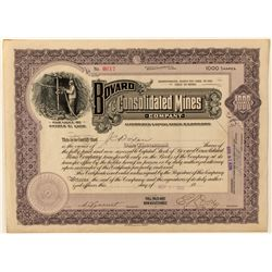 Bovard Consolidated Mines Co. Stock Certificate
