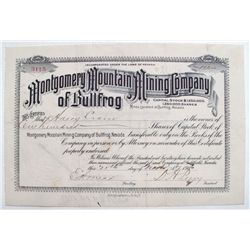 Montgomery Mountain Mining Company of Bullfrog stock