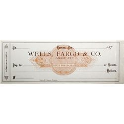 Rare Unused Wells, Fargo & Co. Revenue Imprinted Check