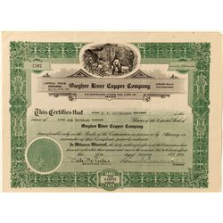 Owyhee River Copper Co. Stock Certificate