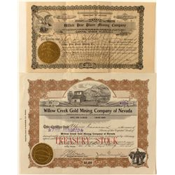 Two Ely Mining Stock Certificates