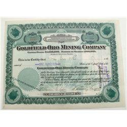 Goldfield-Oro Mining Company stock