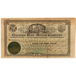 Goldyke Reef Mining Co. Stock Certificate