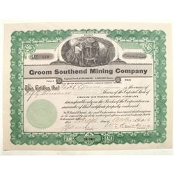 Groom Southend Mining Company Stock