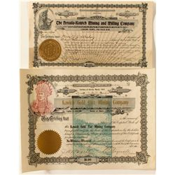 Two Kawich Mining Stock Certificates