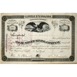 Eagle Silver Mining Company Stock Certificate