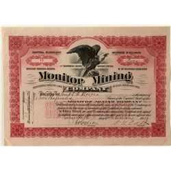 Monitor Mining Co. Stock Certificate