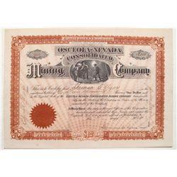 Osceola-Nevada Consolidated Mining Company stock