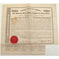 Mettacom Silver Mining Company of Reese River, 1st Mortgage Bond 1867