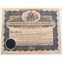 Consolidated Spanish Belt Silver Mining Company stock