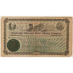 Stephanite Gold and Silver Mining Co. Stock Certificate