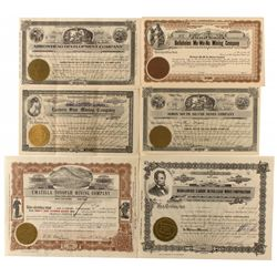 Tonopah Area Mining Stock Certificates