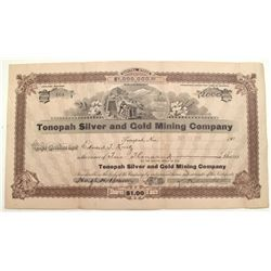 Tonopah Silver and Gold Mining Company Stock