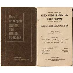 United Randolph Mining and Milling Company prospectus