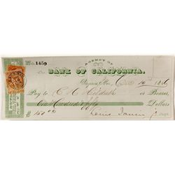 Gould & Curry Check, Virginia City w/ strong, tied cancel
