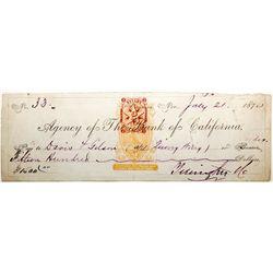 Yerington Signed Check w/ rare revenue imprint