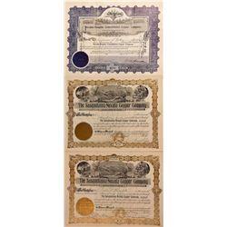 Yerington Area Copper Mining Stock Certificates