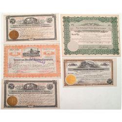 Four stocks with W. J. Douglass signatures