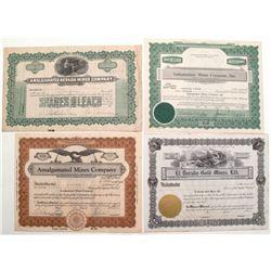 Nevada Mining Stock Certificates