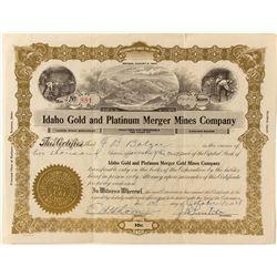 Platinum Mining Co. Stock Certificate