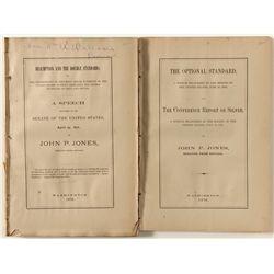 Two Political Speeches Given by Nevada Senator John P. Jones, 1876
