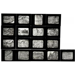 Unlabeled geology lantern slides