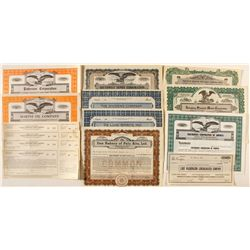 Various Nevada Stock Certificates