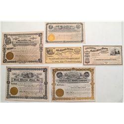 Miscellaneous Mining stocks: Mono, Gold Hill, Weepah, Buena Vista, Austin,