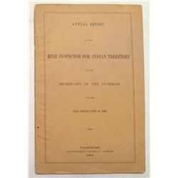 Annual Report of the Mine Inspector for Indian Territory, 1895