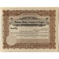 Lexington Hill Gold Mining Co. Stock Certificate