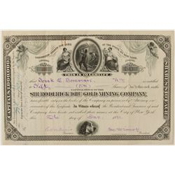 Sir Roderick DHU Gold Mining Co. Stock Certificate